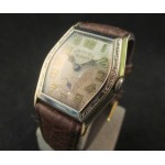 Helbros Engraved Two Tone Deco 20's